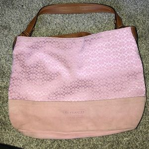 Large Coach purse with matching wristlet